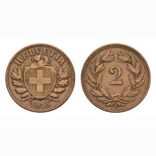 Schweiz 2 Rappen 1918 B