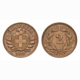 Schweiz 2 Rappen 1919 B