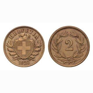 Schweiz 2 Rappen 1920 B