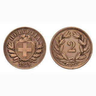 Schweiz 2 Rappen 1925 B