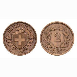 Schweiz 2 Rappen 1928 B