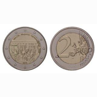Malta 2 Euro 2012 Mehrheitswahlrecht Gedenkmünze