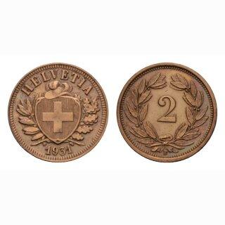 Schweiz 2 Rappen 1931 B