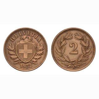 Schweiz 2 Rappen 1932 B