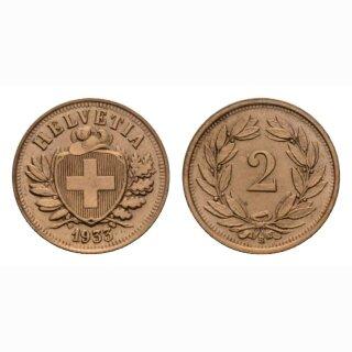 Schweiz 2 Rappen 1933 B