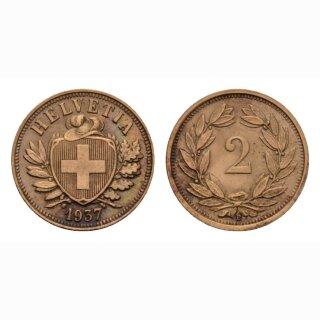 Schweiz 2 Rappen 1937 B