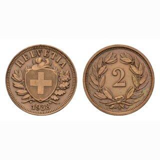 Schweiz 2 Rappen 1938 B