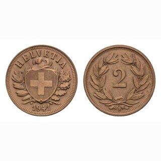 Schweiz 2 Rappen 1941 B