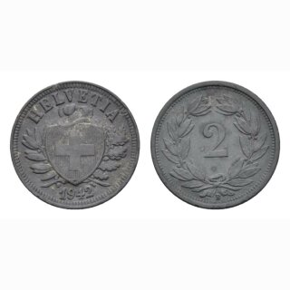 Schweiz 2 Rappen 1942 B