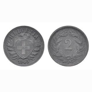 Schweiz 2 Rappen 1943 B