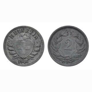 Schweiz 2 Rappen 1946 B