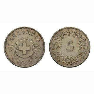 Schweiz 5 Rappen 1850 AB