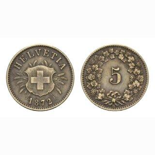 Schweiz 5 Rappen 1872 B