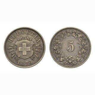Schweiz 5 Rappen 1876 B