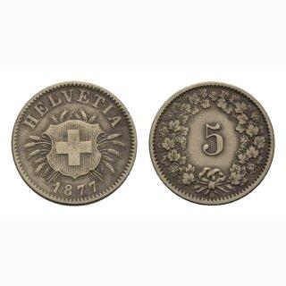 Schweiz 5 Rappen 1877 B