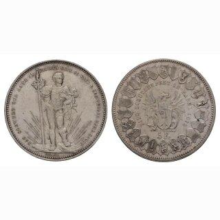 Schweiz 5 Franken 1879 Schützentaler Basel
