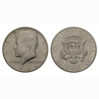 USA  1/2 Dollar 1965 Kennedy