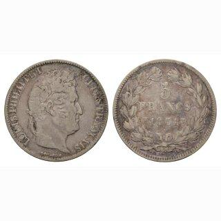 Frankreich  5 Francs 1831 W Louis Philippe I