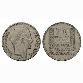 Frankreich  20 Francs 1934 Rep. Francaise