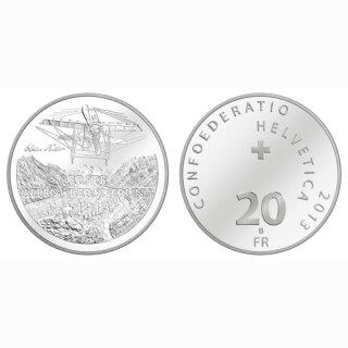 Schweiz 20 Franken 2013 B Alpenüberquerung