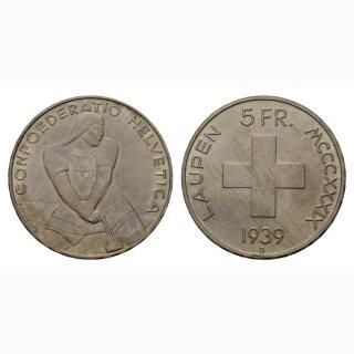 Schweiz 5 Franken 1939 B Laupen