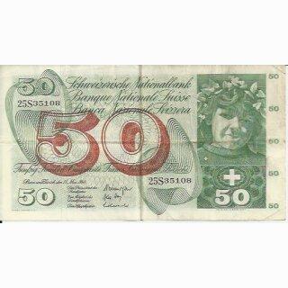 50 Franken Note Apfelernte 1968 gebraucht
