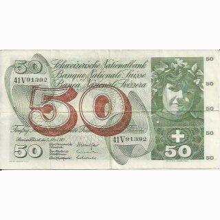 50 Franken Note Apfelernte 1973  gebraucht