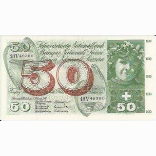 50 Franken Note Apfelernte 1974  wenig gebraucht+