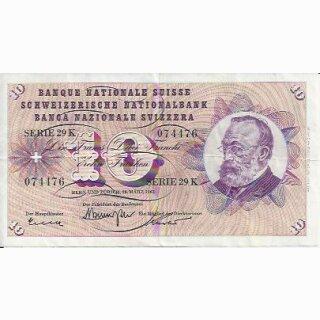 10 Franken Note Keller1959 gebraucht+