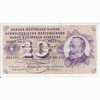 10 Franken Note Keller1977 wenig gebraucht
