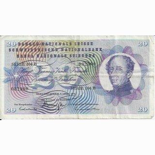20 Franken Note Dufour 1976  gebraucht