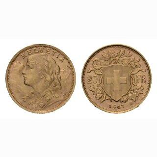Schweiz 20 Franken Goldvreneli div. Jahrgänge * (X)