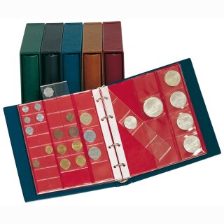 Set: karat-Münzalbum CLASSIC mit Kassette blau