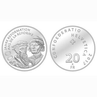 Schweiz 20 Franken 2017 B 500 Jahre. Reformation
