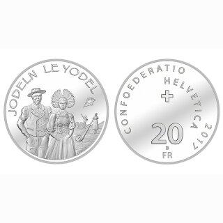 Schweiz 20 Franken 2017 B Jodeln
