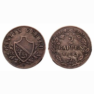 Zürich 2 Rappen 1842