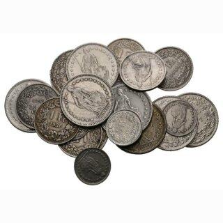 Silbergeld 1 Kilo div. Nominale, Jahrgänge (2, 1, 1/2 Fr.) *