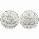 Samoa i sisifo 10 Dollars 1992 The Fleet of Roggeveen