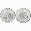 Barbados 5 dollras 1995