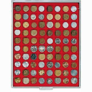 Münzenbox mit eckigen Vertiefungen Ø 24 (Lindner 2180)
