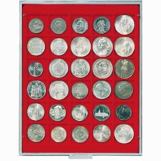 Münzenbox mit eckigen Vertiefungen Ø 38 (Lindner 2115)