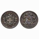 Schweiz 2 Rappen 1907 B