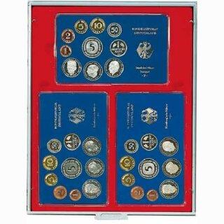 Münzenbox mit eckigen Vertiefungen Fachabmessung 158x100 (Lindner 2203)
