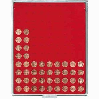 Münzenbox mit runden Vertiefungen Ø 19,25 (Lindner 2502)