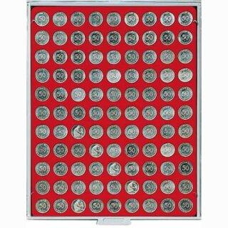 Münzenbox mit runden Vertiefungen Ø 20 (Lindner 2550)