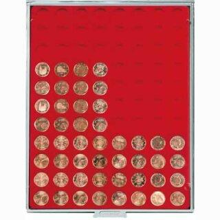 Münzenbox mit runden Vertiefungen Ø 21,5 (Lindner 2510)