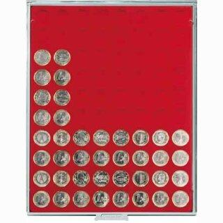 Münzenbox mit runden Vertiefungen Ø 23,5 (Lindner 2108)