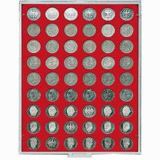 Münzenbox mit runden Vertiefungen Ø 26,75 (Lindner 2109)