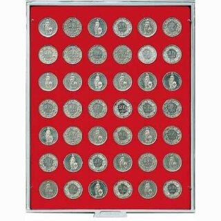 Münzenbox mit runden Vertiefungen Ø 27,5 (Lindner 2107)