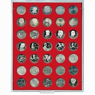 Münzenbox mit runden Vertiefungen Ø 31 (Lindner 2104)